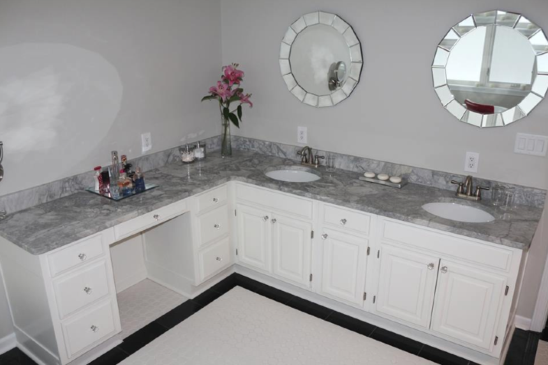 Modern bathroom design indianapolis granite countertops by majestic