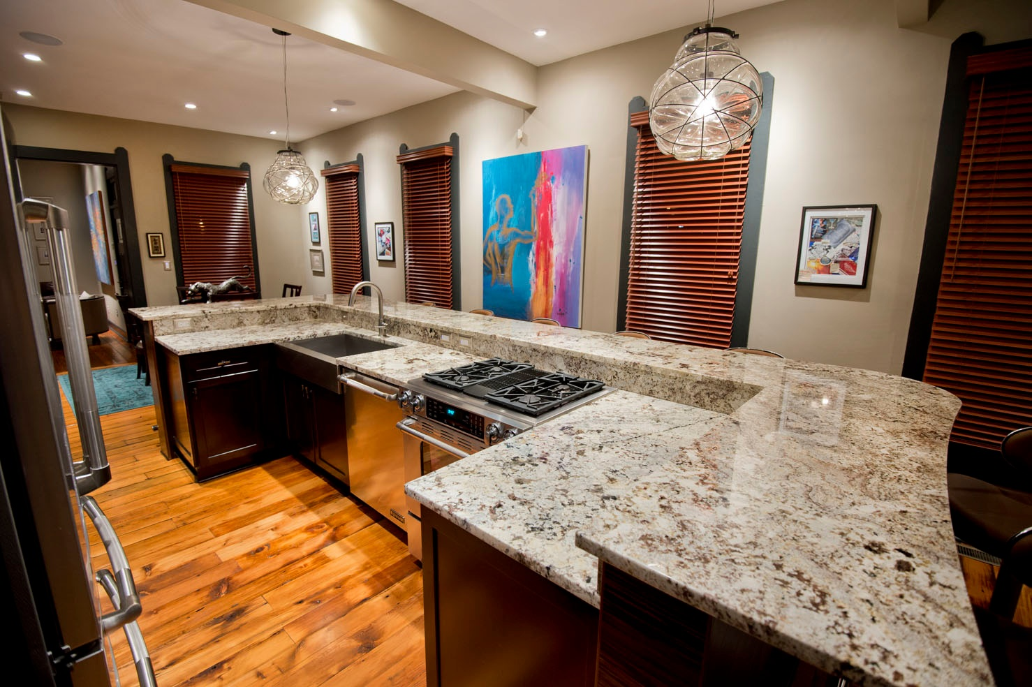 Kitchen countertops indianapolis granite countertops by majestic stone imports Kitchen design with granite countertops